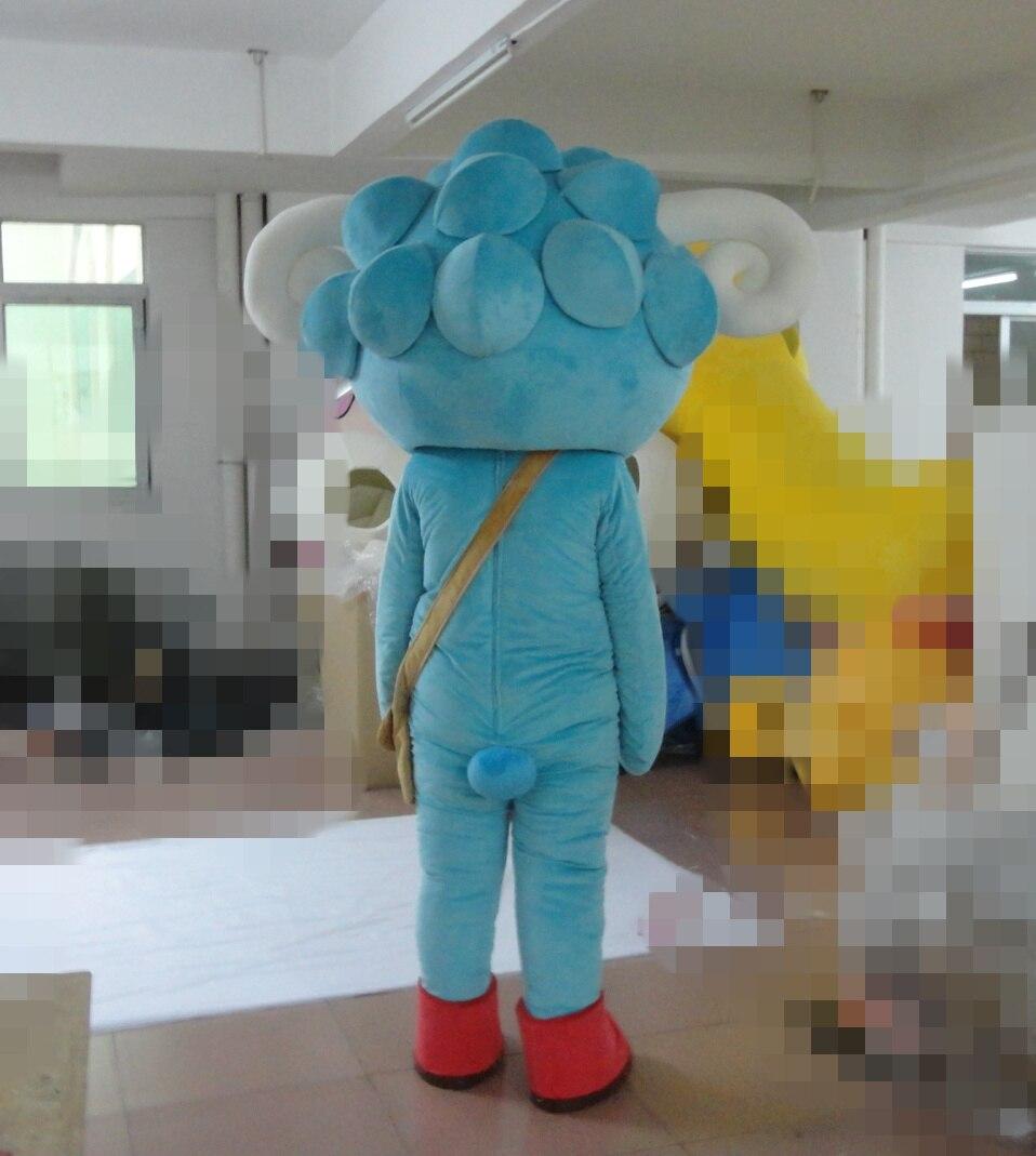 Costume de mascotte de mouton bleu ciel pour adultes costume de mascotte de mouton vêtements spéciaux de vacances pour l'événement de fête d'halloween - 3