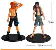 One Piece Monkey D. Luffy Ace 2pcs/set 16cm Anime Action Figures PVC Toys