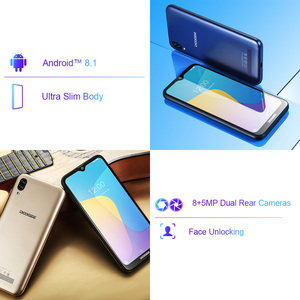 Image 3 - Original DOOGEE Y8C Android 8.1 6.1inch Waterdrop Screen Smartphone MTK6580 Quad Core 1GB RAM 16GB ROM  Dual SIM 8MP+5MP WCDMA