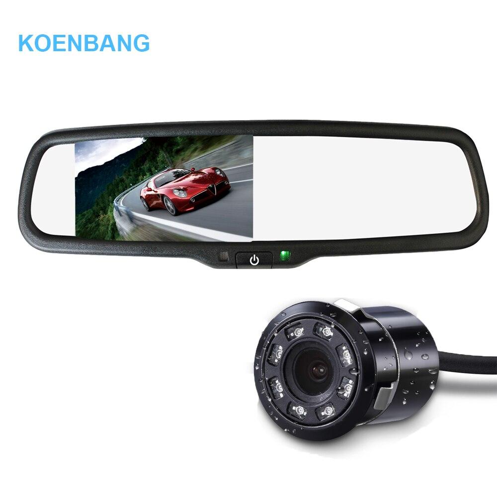 KOENBANG 4 3 HD 1000cd m2 800 480 Car Rearview TFT LCD Mirror Monitor Night Vision