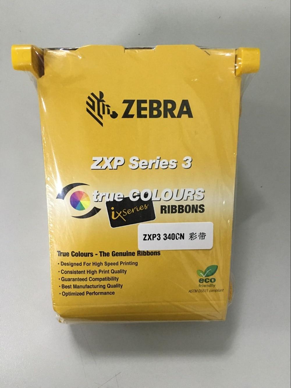 Ruban d'imprimante couleur d'origine, ruban couleur de carte d'identité utilisé avec l'imprimante ZXP série 3 numéro de pièce: 800033-340cn