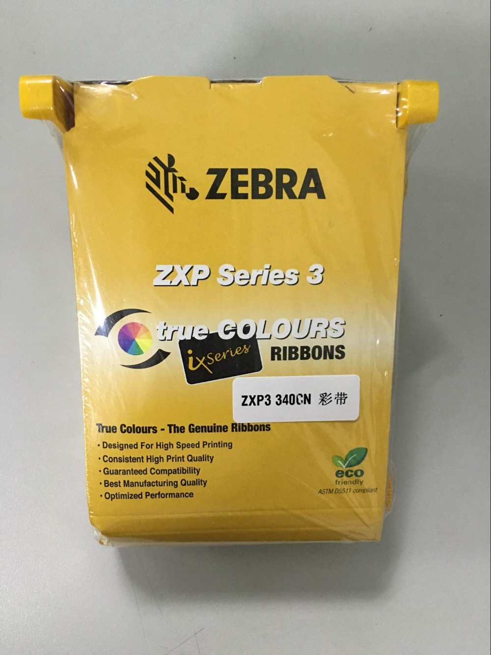 original color printer ribbon, id card color ribbon used with Zebra ZXP Series 3 printer part no.:800033-340cn idp smart 650664 siadc p r red ribbon use for smart id card printer ribbon