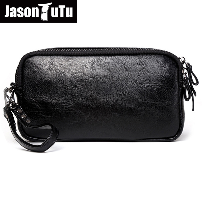 JASON TUTU 2017新規上場カジュアルメンズレザーバッグクラッチ財布財布ユニセックス女性ハンドバッグ電話バッグボルサス送料無料B532レザー