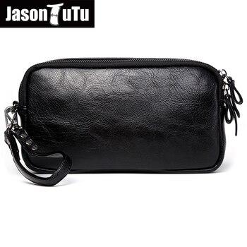 39be6ff581778 JASON TUTU 2019 Yeni Liste Rahat Erkek deri çanta Debriyaj cüzdan çanta  Unisex Kadın çanta telefonu çantası Bolsas ücretsiz kargo b532