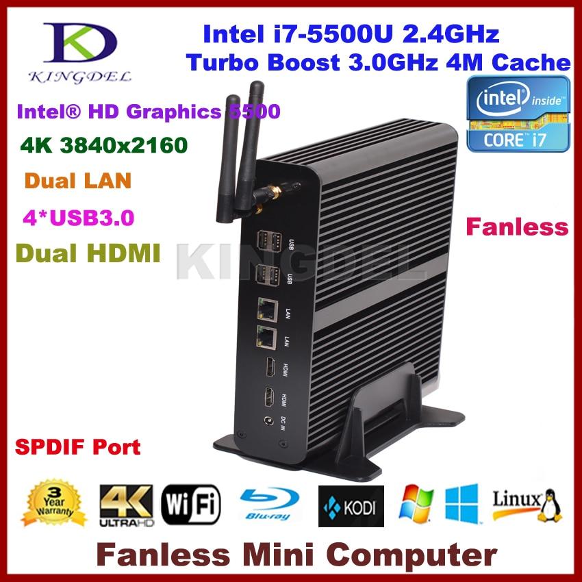 Best Selling Mini PC HTPC, Intel NUC I7 5th Gen. CPU, 8GB RAM+SSD, Ultra HD 4K 2*Gigabit LAN+2*HDMI+SPDIF+4*USB3.0 Free Shipping