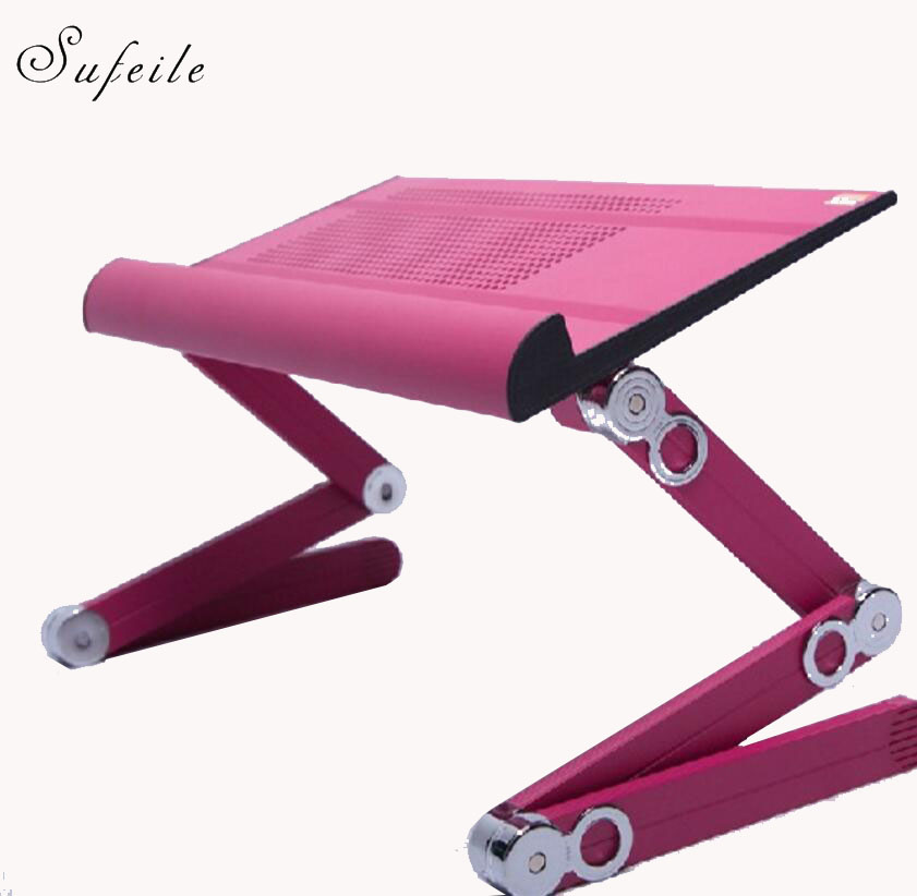 SUFEILE Bed table Portable Laptop table Notebook Computer Folding Stand Table Desk Office Sofa Tray USB Cooler mouse pad D5 adjustable laptop desk computer table office furniture desk laptop stand desk modern notebook table laptop bed tray page 3