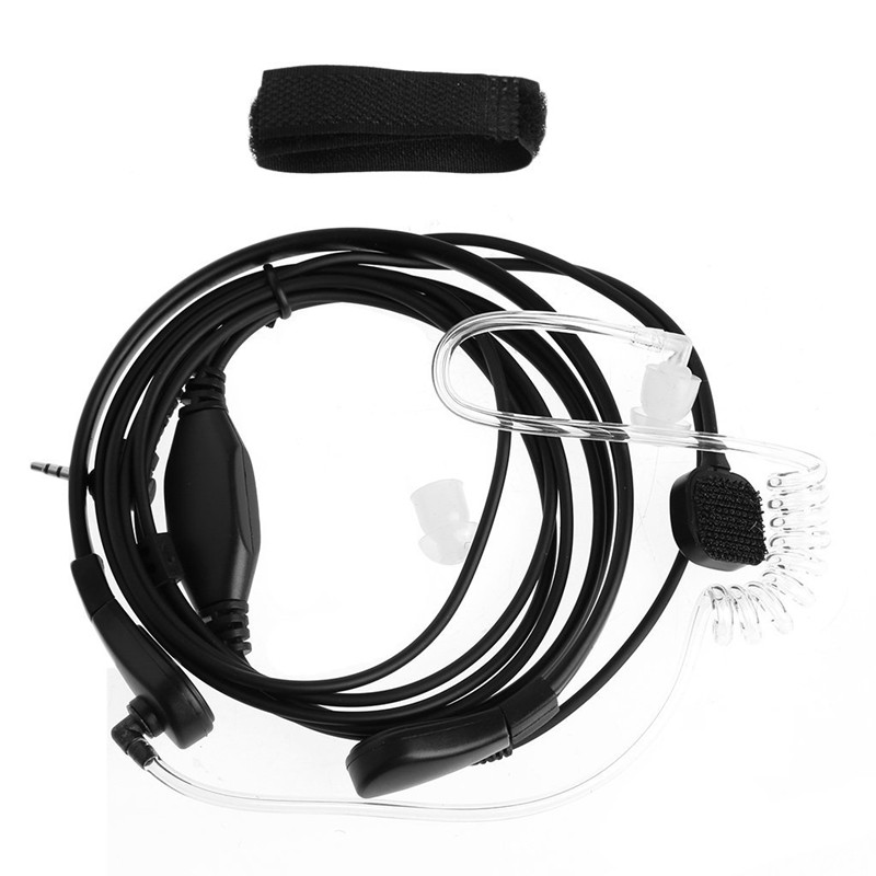 Throat Microphone Earpiece Headset Mic PTT For Two-Way Radio Walkie Talkie 2.5mm 1-Pin Plug