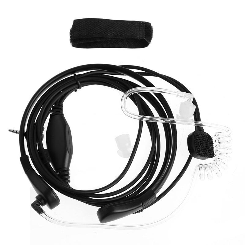 Throat Microphone Earpiece Headset Mic PTT For Two-Way Radio Walkie Talkie 2.5mm 1-Pin Plug