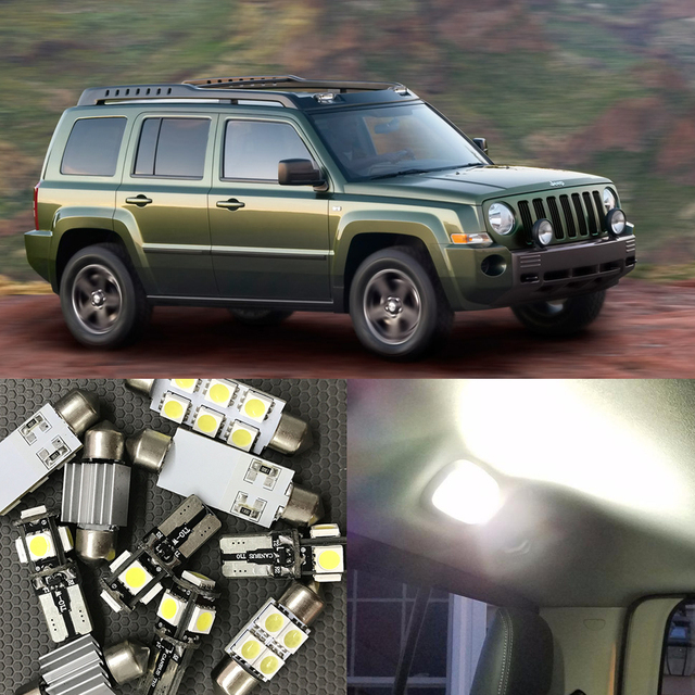 11pc White Canbus Car Led Light Bulbs For Jeep Liberty 2002 2006 Map Dome Roof Trunk License Plate Lamp Oem Replace Halogen Bulb