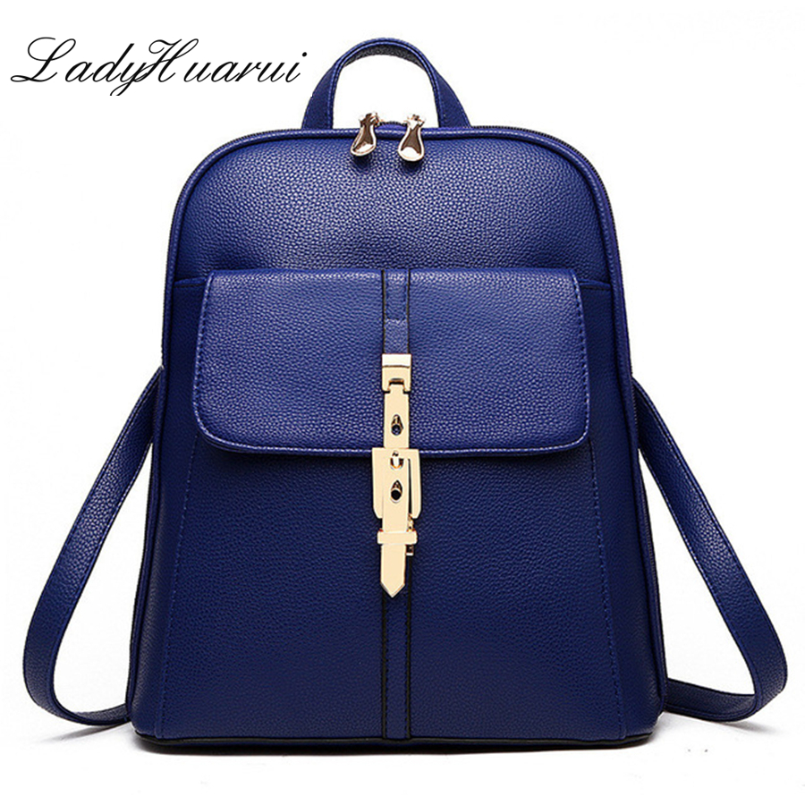 2017 casual patent pu leather women's backpack solid schoolbag  female backpacks women preppy style High quality Brand  Q1 elegant pu girl s schoolbag casual traveling bag women backpacks adjustable straps royal blue