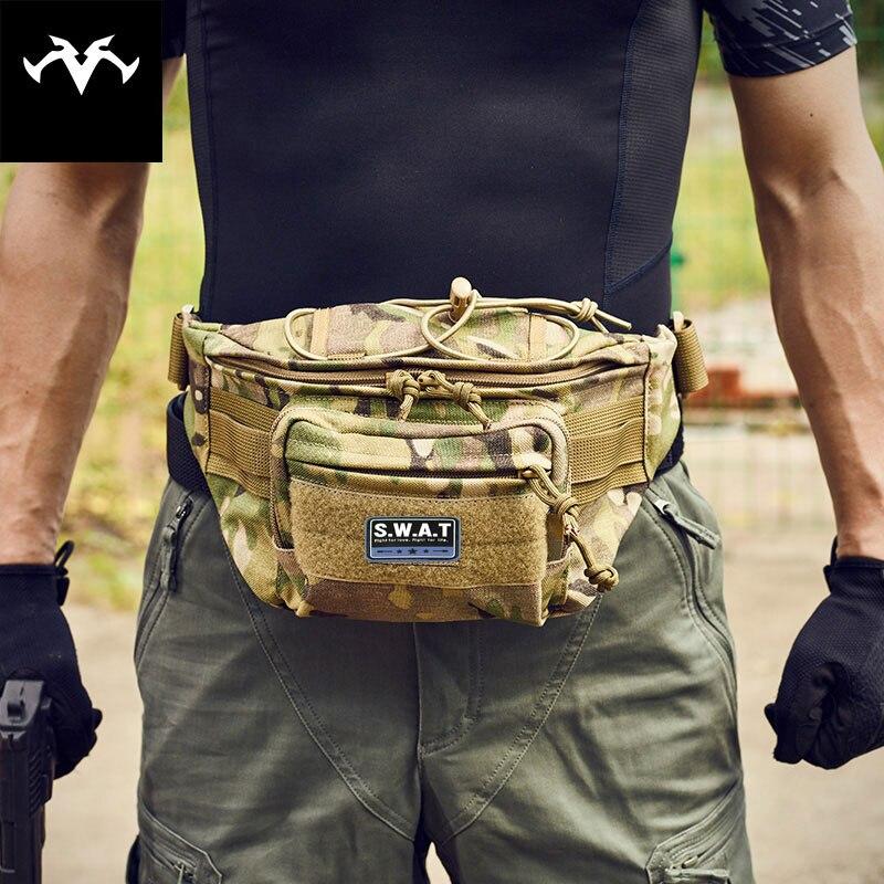 Açık Spor eğlence Su Geçirmez Taktik Bel Çantası Yardımcı Dergisi Kılıfı sürme cepler telefonu kamera çantaları avcılık çanta