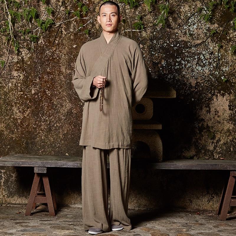Uniforme 2 Costume gris Bleu ardoisé Pcs Taille Fu jaune Couleurs Chi kaki Moine La Kung Tai 6 vert Shaolin Robe Bouddhiste Plus Méditation w4XrPqwxU