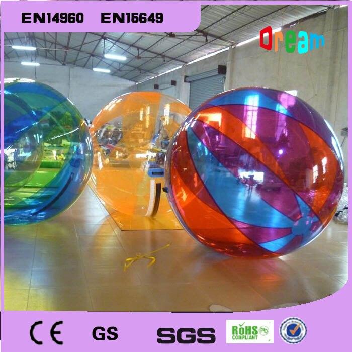 Livraison gratuite 2 m boule à bulles d'eau gonflable boule de marche de l'eau ballons à eau boules boule Anti-Stress gonflable géante
