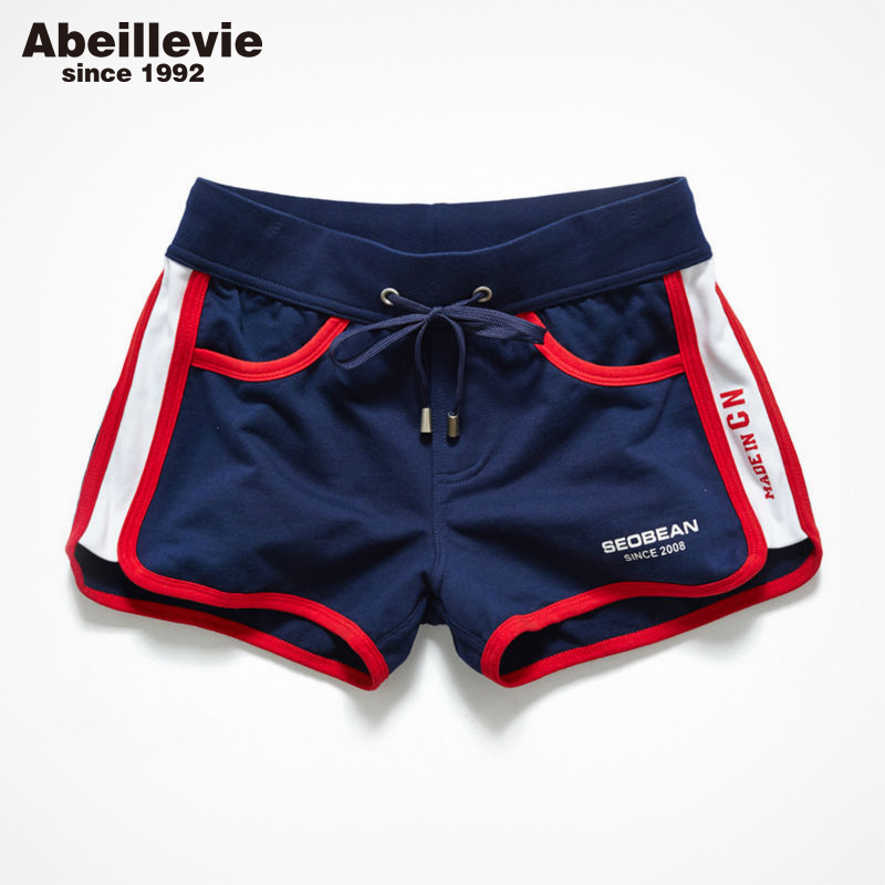 Abeillevie New Fashion Cotton Casual Men's Shorts Summer Trunk Comfort Homewear Loung Shorts Soft Leisure Men Jogger Short PF074