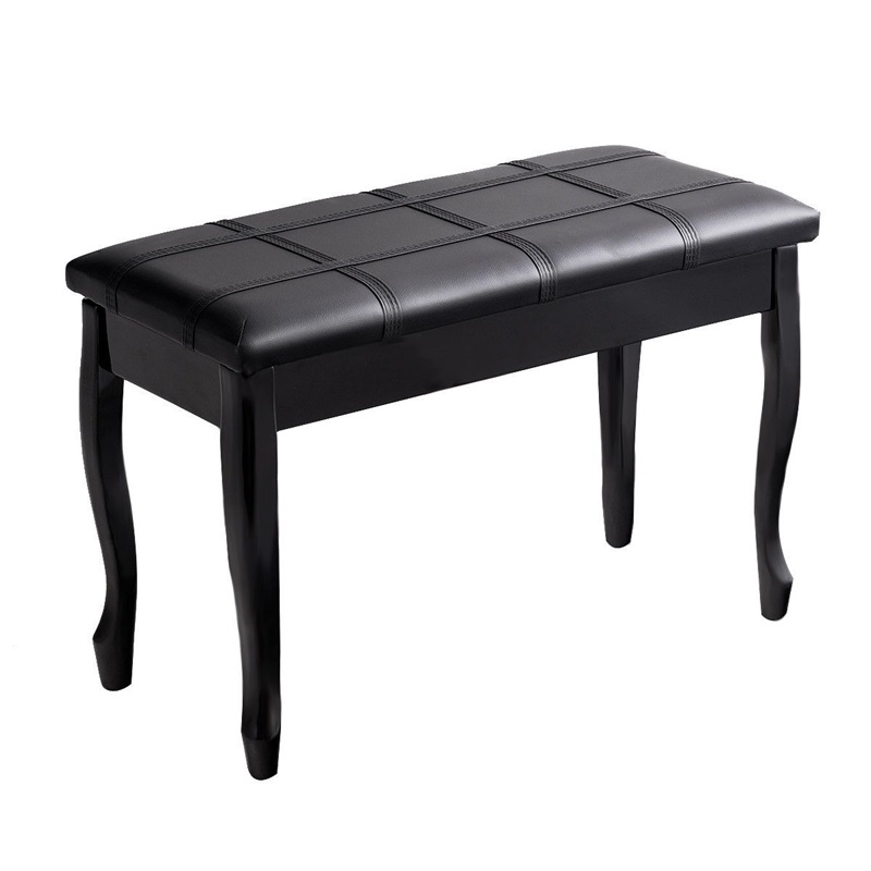 Solid Wood PU Leather Piano Bench with Storage Elegant Appearance and Light Weight Solid Durable Wood Construction HW60305