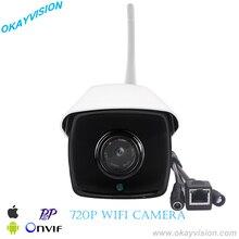 Onvif HD 720 P wi-fi ip-камера 1.0MP беспроводной водонепроницаемый открытый инфракрасного ночного видения P2P mobile home security с onvif nvr использовать