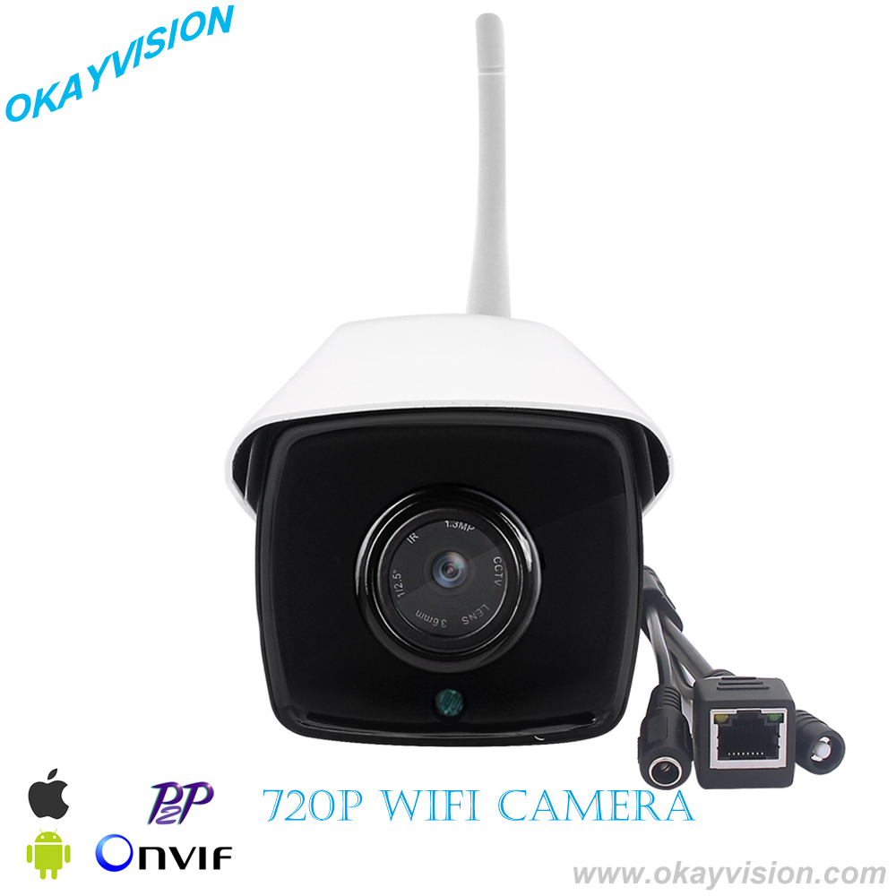 onvif HD 720P wifi ip camera 1.0MP wireless waterproof outdoor infrared night vision P2P mobile home security with onvif nvr use