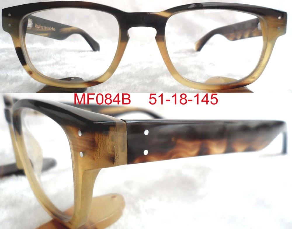 Full natural buffalo horn optical frame, fashion eyewear glasses, handmade frame. .MF084B - MingFeng Optical Co., Ltd. store