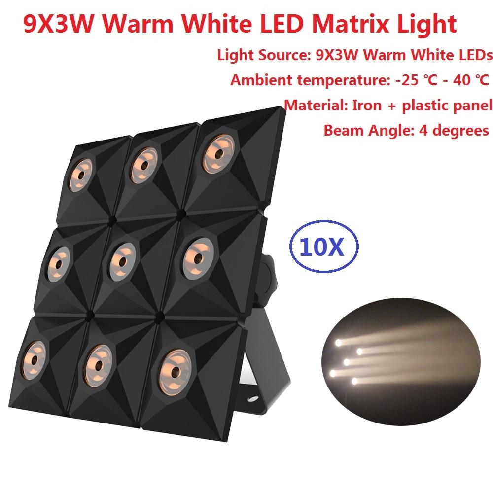 10Pack Mini Led Par Light Flat Led Panel Show Stage Effect Lights 9X3W Warm White DJ Disco DMX Led Beam Wash Strobe Lighting
