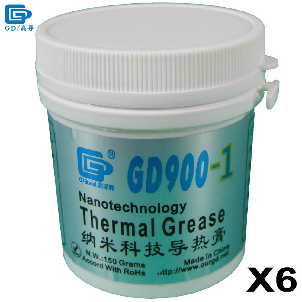 GD Brand Thermal Grease Paste Silicone GD900-1 CPU Heat Sink Compound 6 Pieces Gray Containing Silver Net Weight 150 Grams CN150 все цены