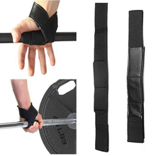 1 Pair Heavy Duty Weight Lifting Gym Training Hand Bar Suport Strap Wrist Palm Padded Wrap Bandage Body Building Grip Glove