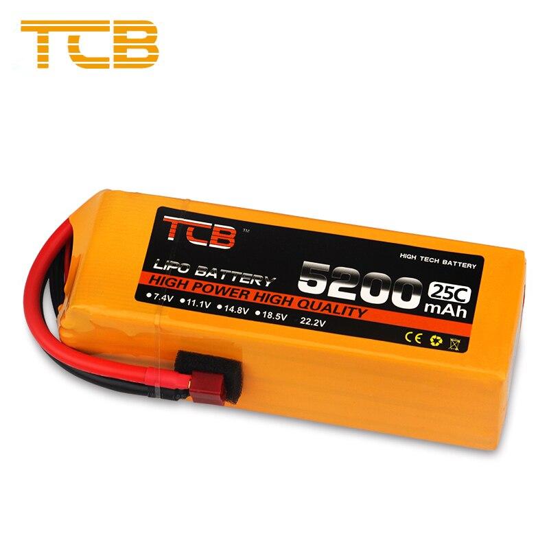TCB RC Lipo batterie 6 S 22.2 V 5200 mAh 25C 35C pour Drone RC hélicoptère avion Quadrotor voiture FPV haut débit RC batterie LiPo