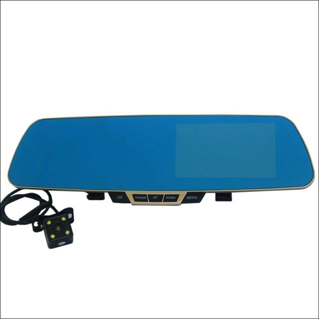 For bmw M5 e60 e39 f10 m50 m54 Car DVR Blue Screen Rearview Mirror Video Recorder Car Dual Camera 5 INCH Car Black Box FHD 1080P