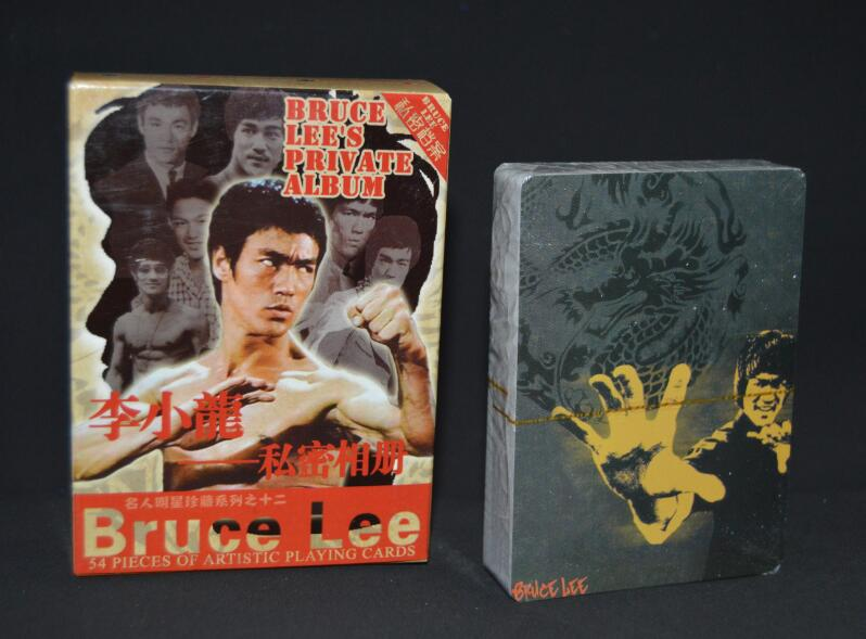 free shipping Chinese Kung Fu Star bruce lee poker set playing cards sets celebrity souvenir pokers