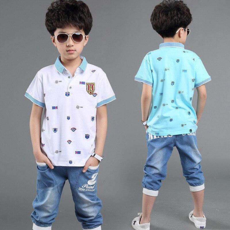 10fc0cf3101 Αγόρια Ρούχα Ρούχα Μοντέρνα Κοστούμια Μπλούζες Polo + Παντελόνια ...