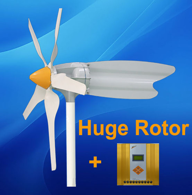 400W Small Horizontal Axis Wind Generator Turbine And 12v/24v 300w/400w/600w MPPT hybrid Controller equte vintage golden flower pendant artificial pearl necklace white golden
