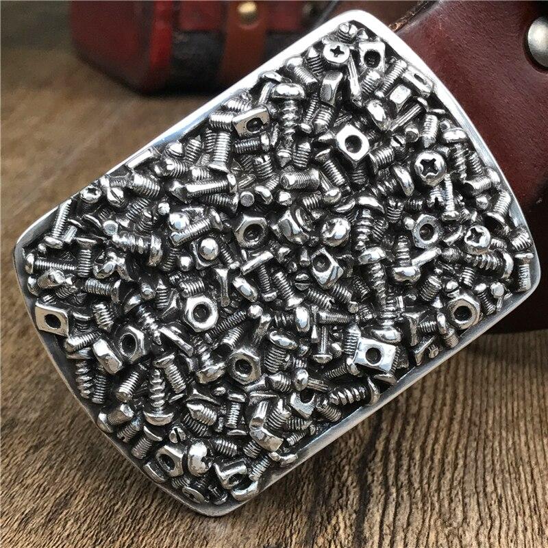 Metal Belt Buckle Jeans Men Belt Leather Genuine Ceinture Homme Thick Men's Strap Belts For Men MBT0497
