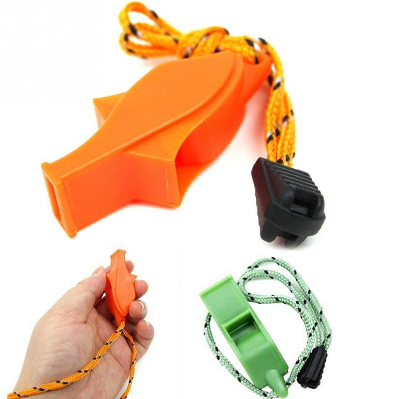 New Dolphin Shape Loudest Whistle Football Volleyball Sports Cheer Whistle With Lanyard Emergency Survival Whistle Random Color