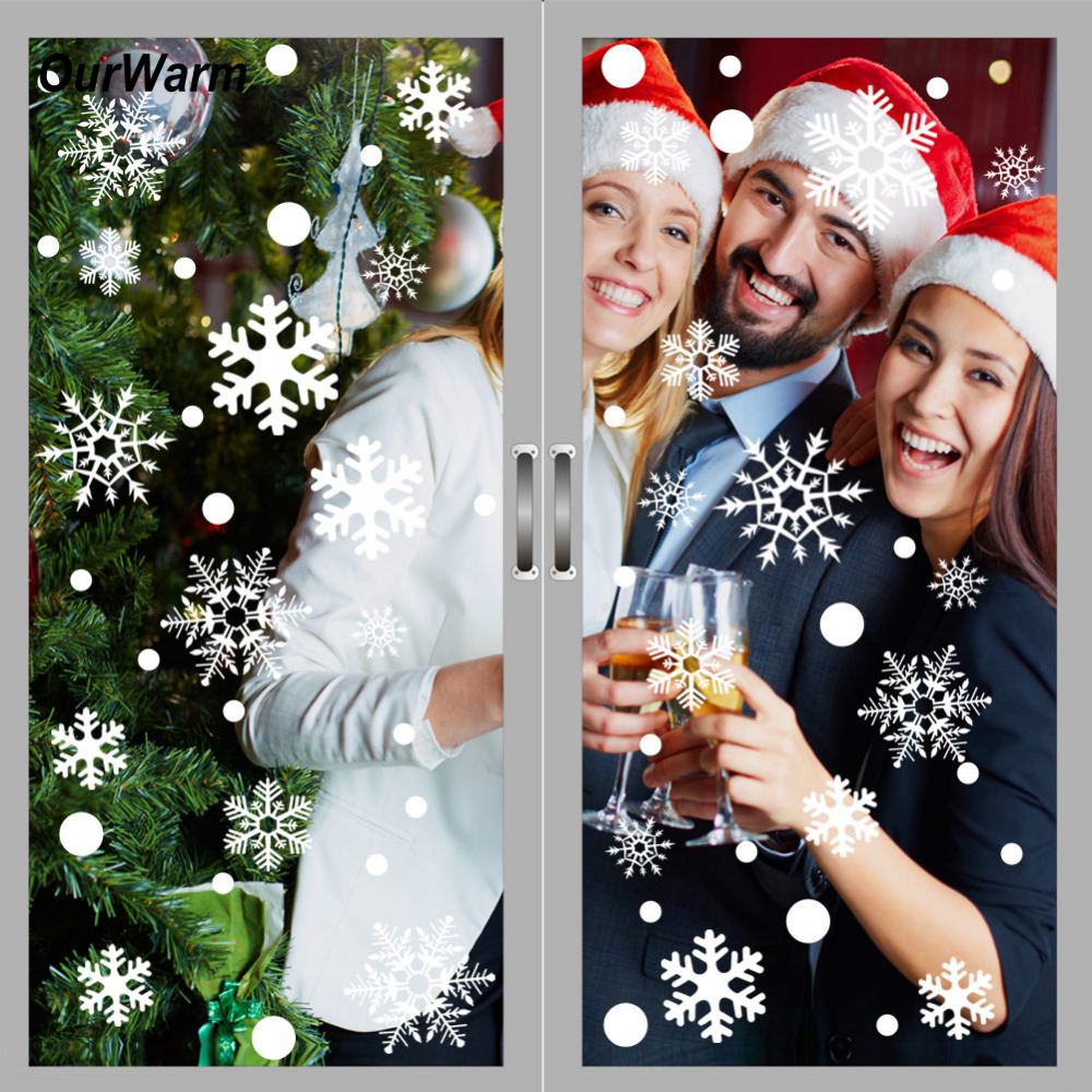 Office Christmas Party Ideas: OurWarm 144Pcs Christmas Window Stickers Office Christmas