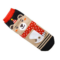 Woweile#3001 1pair New 3D Animals Cartoon Socks Women Cat Footprints Cotton Socks Floor For Women can wholesale