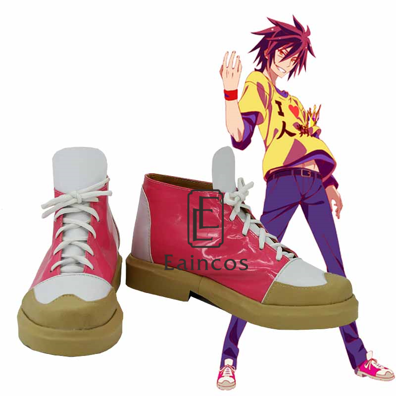 Anime NO GAME NO LIFE Sora Cosplay Party Shoes Custom-made