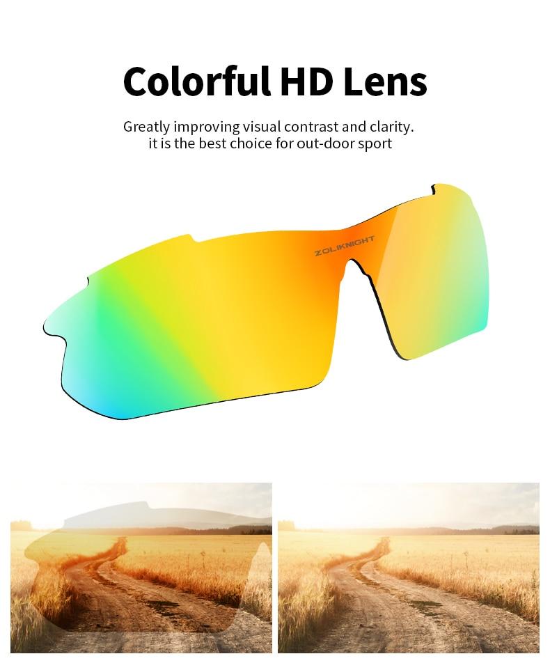 Polarizado óculos de sol da bicicleta dos