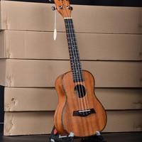 Concert Ukulele 23 Inch Guitar 4 Strings Electric Ukelele Guitarra Handcraft Wood White Mahogany Uke Red Celluloid Wraps