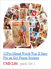 New World War II Sexy Pin up Girl Vintege Poster Home Room Wall sticker Kraft Paper Posters and Prints Art Wall Decor