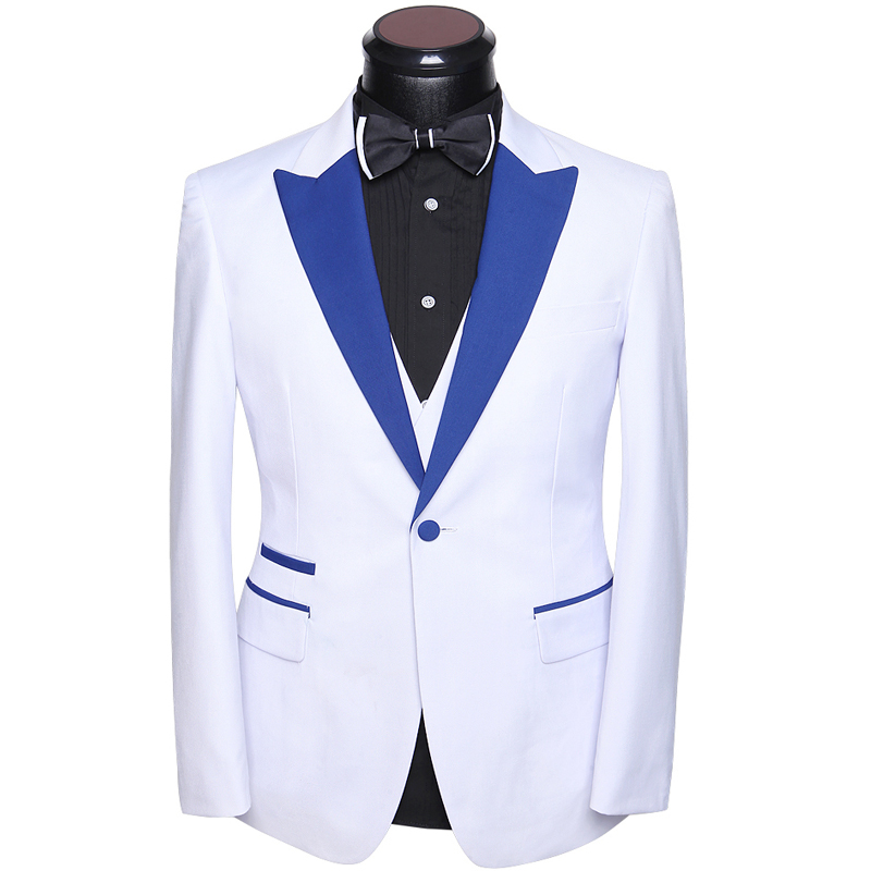 Wedding Suits For Men 2017 Latest Coat Pants Vest Designs Stylish Slim Fit Prom Party Suit Groom Wedding Dress White Gold Orange