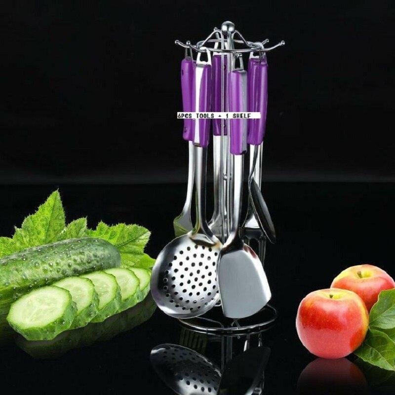 SET d'outils de cuisson 7 pièces cuillère spatule passoire aiguiseur SCOOPS ustensile de cuisine