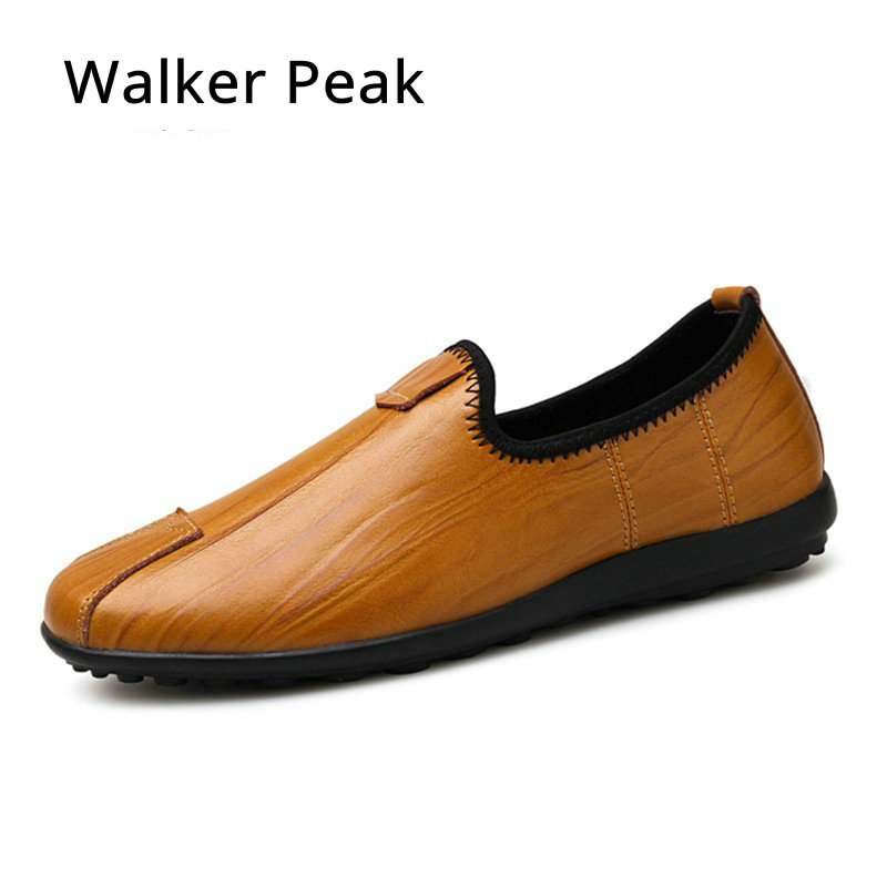 SIZE 37~46 Genuine leather Mens Loafers Fashion Handmade Moccasins Soft Driving shoes Blue Slip On Men's Boat Shoe Walker Peak finn flare azalea