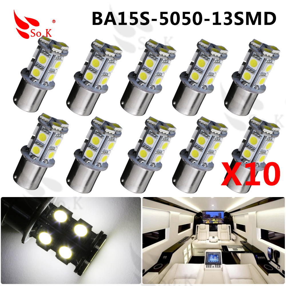 High Quality 1156 BA15S P21W 13 SMD 5050 LED Brake Parking Rear Tail Turn Signal Light Bulb Lamps Auto Led Car Bulb 12V 13SMD 1pc 1156 ba15s 1206 22smd white led brake turn light auto mobile wedge lamp tail bulb super bright dc 12v csl2017