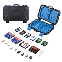 Waterproof Camera TF/CF/SD Memory Card Max 27 cards Storage case organizer for 4CF+ 8SD+9TF+1Card PIN +1SIM+2Micro-SIM+2Nano-SIM