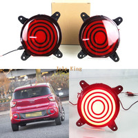 July King LED Car Brake Lights Case for Hyundai I10 2017 2018, LED Rear Bumper Brake Light + Night Running Light