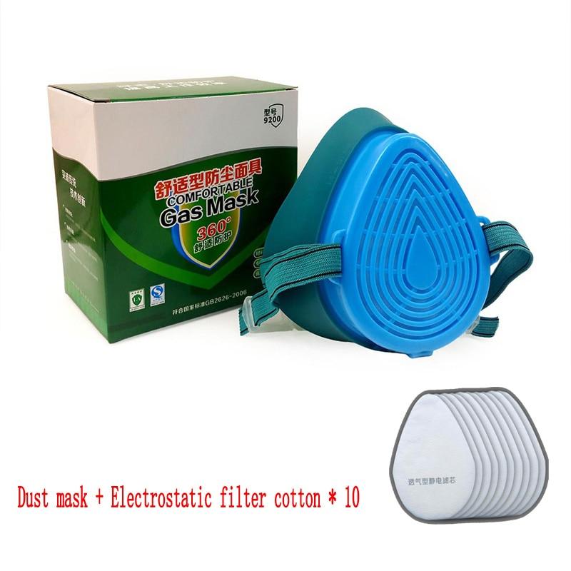9200 Dust Masks Dust Industry Anti-haze Masks Anti-virus Masks 10PCS Protective Mask Anti-dust Dust Filter Cotton