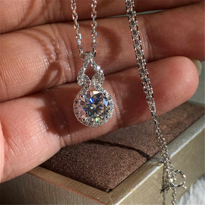 choucong Statement Pendant AAAAA Zircon cz Real 925 Sterling silver Party Wedding Pendant with Necklace for women Bridal jewelry