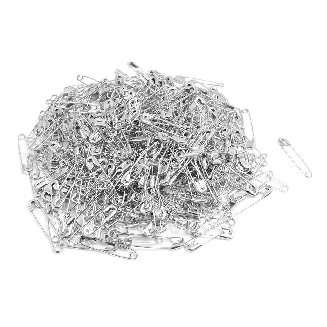 Clothing Fastener Tool Clip Buttons Silver TOne Metal Safety Pins 500 Pcs