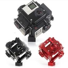 360/720 Degree VR Full frame shoot FPV Panoramic Imaging Video Recorder 6pcs gopro camera holder cage for go pro 4,3,3+