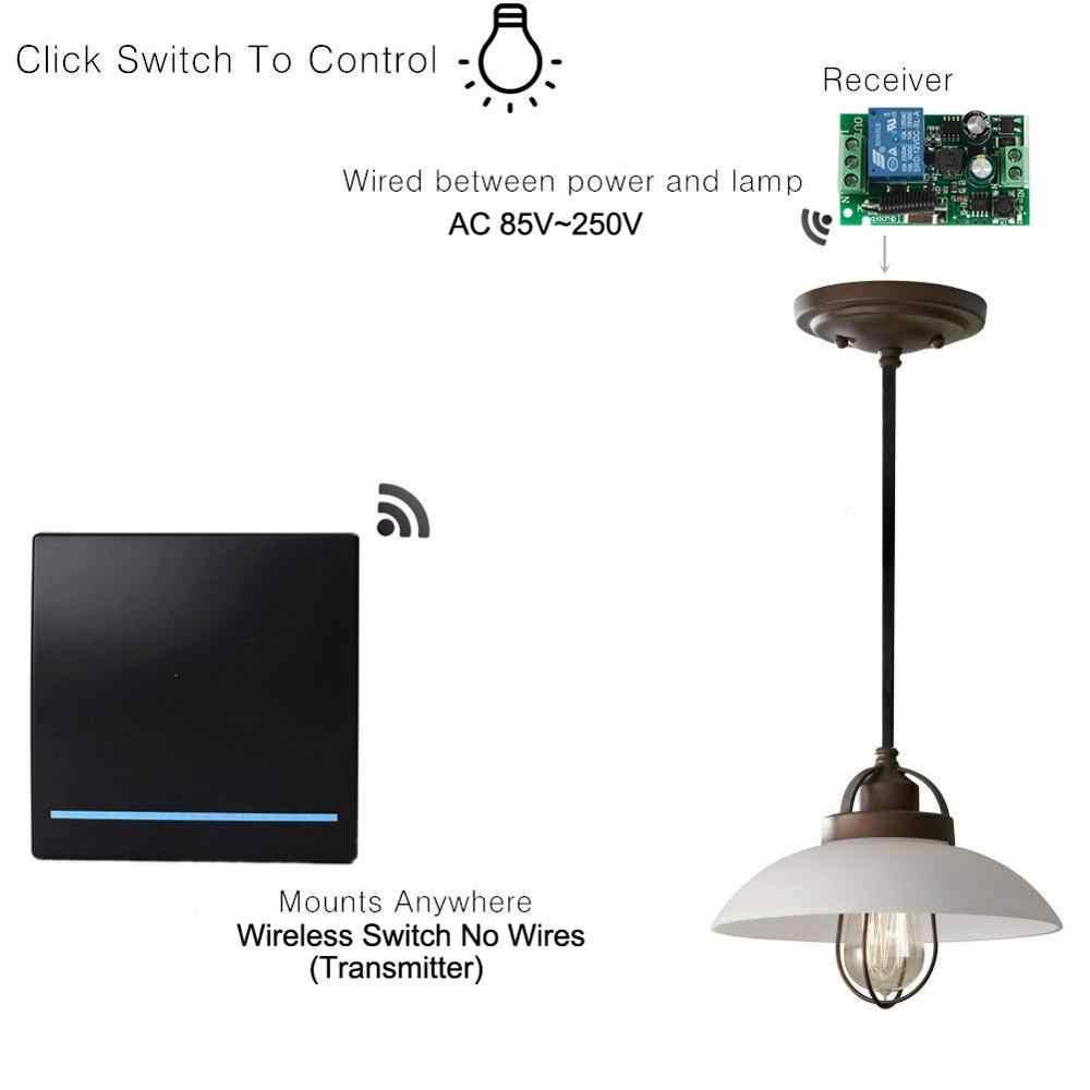 433 МГц умный дом лестница Беспроводной RF пульт дистанционного управления AC 110 В 220 В 1 канальный приемник настенная панель спальня потолочный светильник Led
