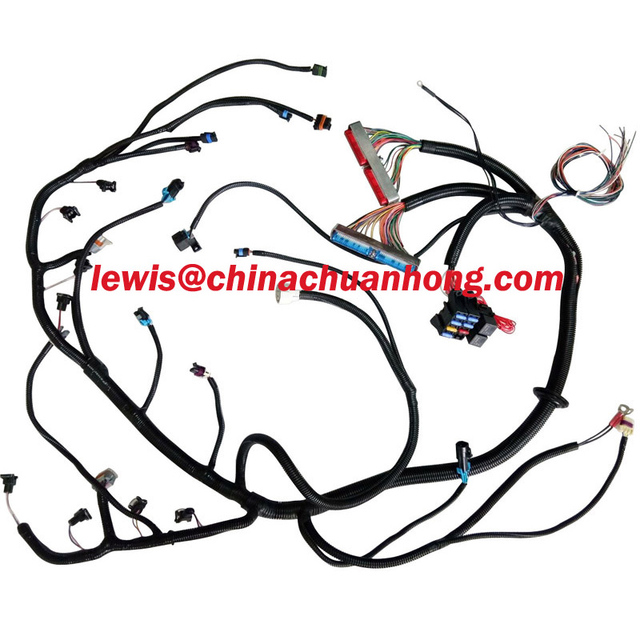 US $469 0 |1999 2003 Vortec LS1 V8 Standalone Wire Harness Drive By Cable  EV1 INJ 4L60E Transmission EFI-in Fuses from Automobiles & Motorcycles on